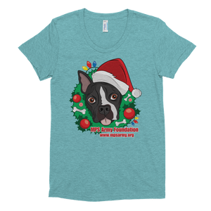 Holiday Pup - American Apparel Women's Tri-Blend T-Shirt