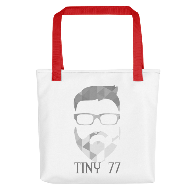tiny_77 Grey Geometric - Tote