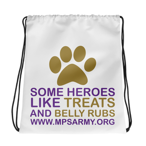 Treats & Belly Rubs - Drawstring Backpack