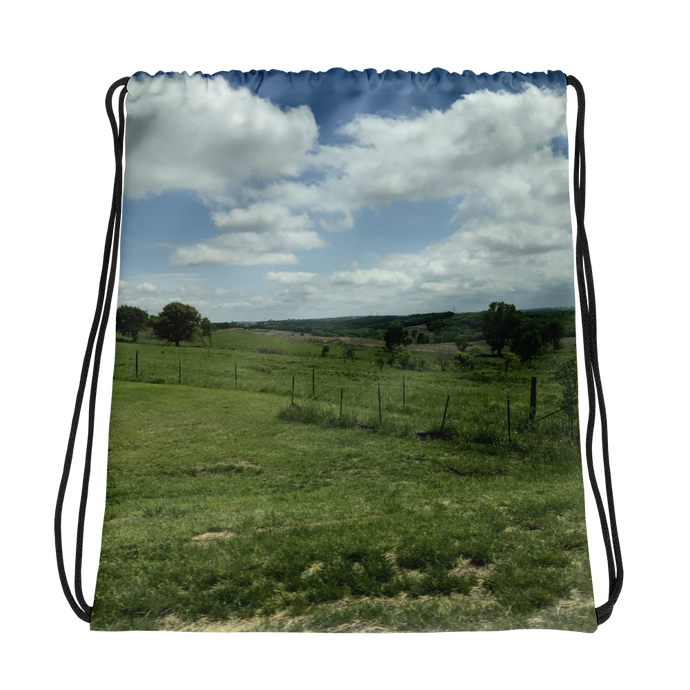 Rolling Fields - Drawstring Backpack