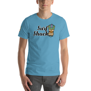Surf Shack Tiki - Bella + Canvas Unisex Short Sleeve Jersey T-Shirt w/ Tear Away Label