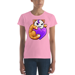 Cid Kitty Heart - Anvil Ladies Fit T-Shirt w/ Tear Away Label