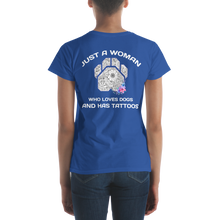 Dogs and Tattoos - Anvil Ladies Fit T-Shirt w/ Tear Away Label