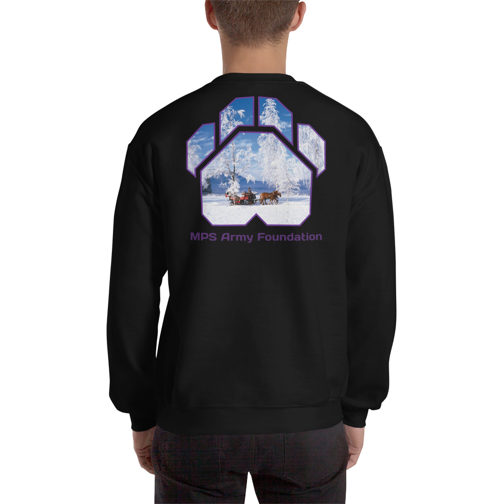 Winter Sleigh Ride - Gildan Heavy Blend Crewneck Sweatshirt