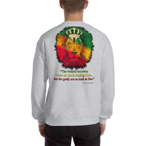 Godly Lion - Gildan Heavy Blend Crewneck Sweatshirt