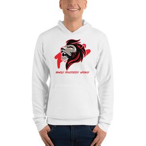 JaredFPS Logo - Red - Bella + Canvas Unisex Fleece Pullover Hoodie