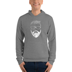 tiny_77 Grey Geometric - Bella + Canvas Unisex Fleece Pullover Hoodie