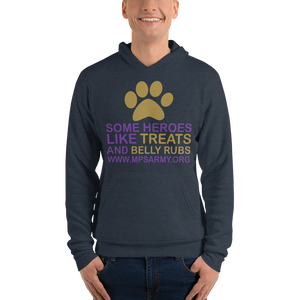 Treats & Belly Rubs - Bella + Canvas Unisex Fleece Pullover Hoodie