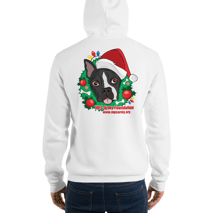 Holiday Pup - Bella + Canvas Unisex Fleece Pullover Hoodie
