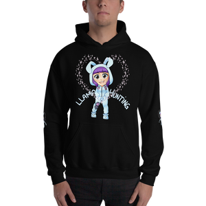 Llama Hunting - Gildan Heavy Blend Hooded Sweatshirt