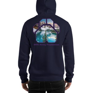 Winter Mountain - Gildan Heavy Blend Hooded Sweatshirt