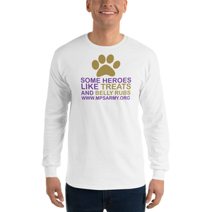 Treats & Belly Rubs - Gildan Ultra Cotton Long Sleeve T-Shirt