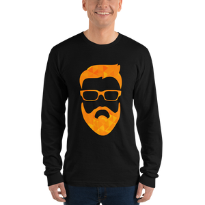 tiny geo face - American Apparel Unisex Long Sleeve T-Shirt