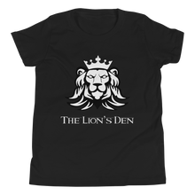 The Lion's Den with Lion - Bella + Canvas Youth Short Sleeve Tee w/ Tear Away Label