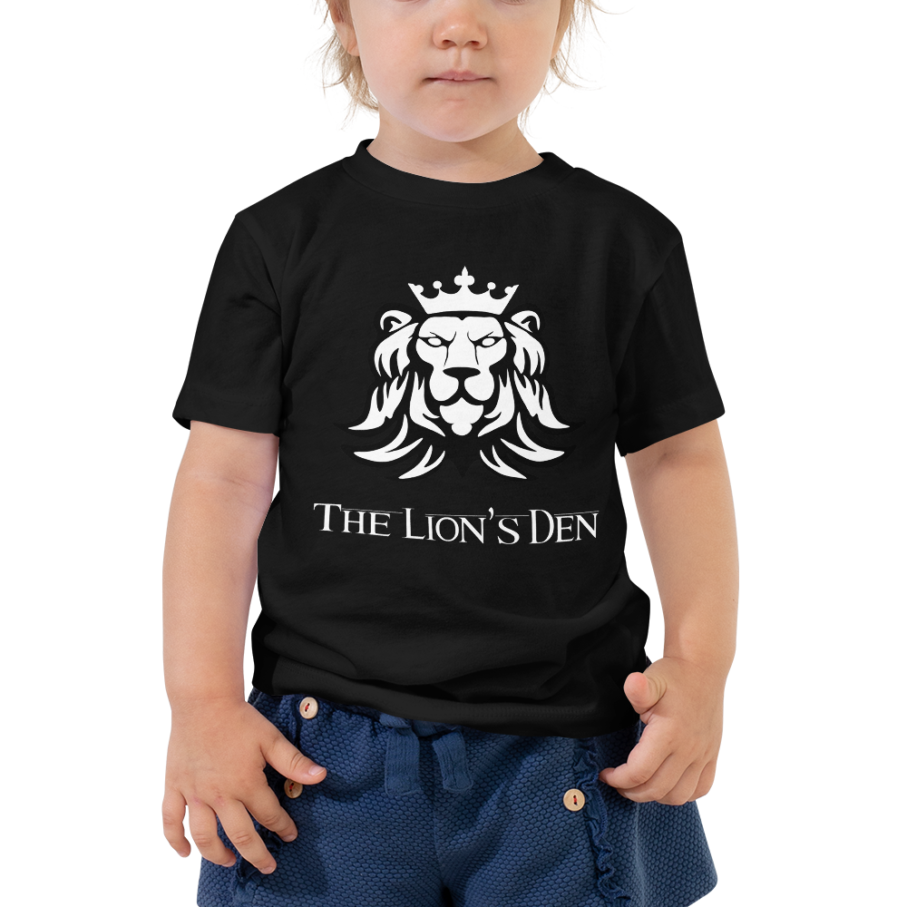 The Lion's Den with Lion - Bella + Canvas Toddler Tee w/ Tear Away Label