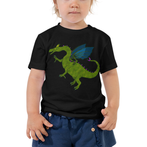 Shauni the dragon - Bella + Canvas Toddler Tee w/ Tear Away Label