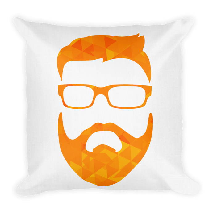 tiny geo face - Premium Pillow