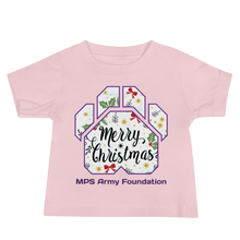 Merry Christmas Paw - Bella + Canvas Baby Jersey w/ Tear Away Label