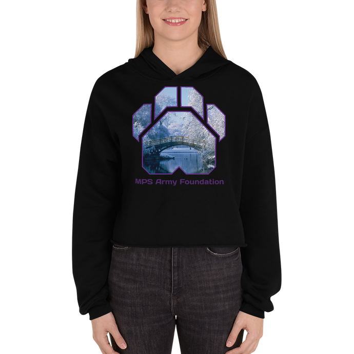 Winter Bridge - Bella + Canvas Women's Fleece Crop Hoodie