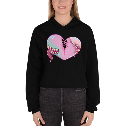 Ghoul At Heart - Bella + Canvas Women's Fleece Crop Hoodie