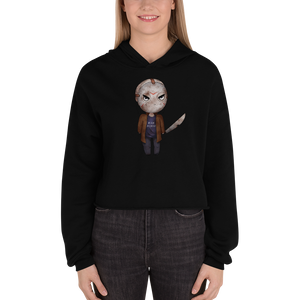 Jason Voorhees Rah Horde - Bella + Canvas Women's Fleece Crop Hoodie