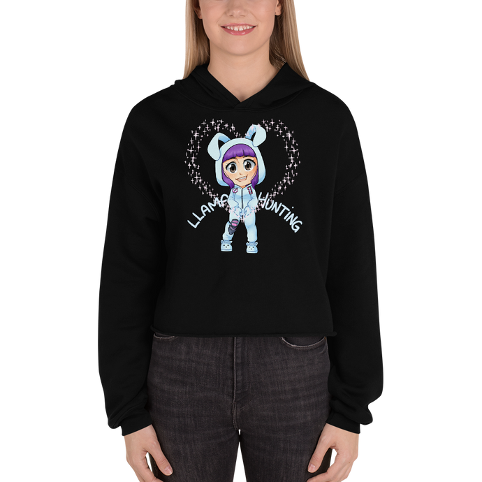 Llama Hunting - Bella + Canvas Women's Fleece Crop Hoodie