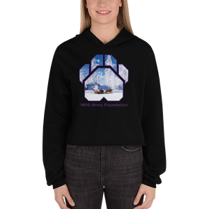 Winter Sleigh Ride - Bella + Canvas Women's Fleece Crop Hoodie
