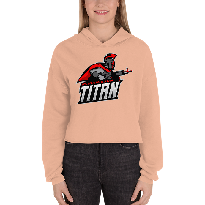 MachineGunTitan  - Bella + Canvas Women's Fleece Crop Hoodie