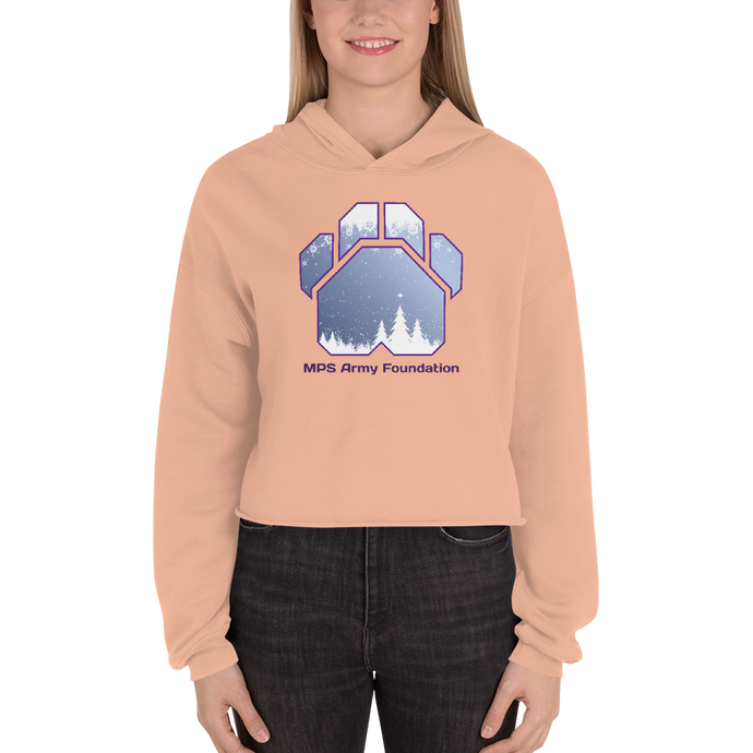 White Christmas - Bella + Canvas Women's Fleece Crop Hoodie