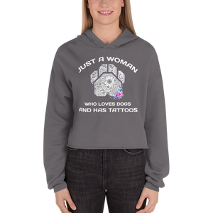 Dogs and Tattoos - Bella + Canvas Women's Fleece Crop Hoodie