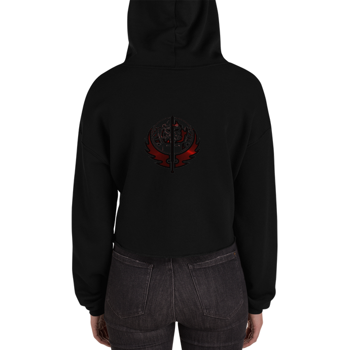 Canadian Ninja Knight - Bella + Canvas Women's Fleece Crop Hoodie