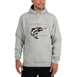 KNTF - Mens Grey Hoodie - Champion Cotton Max Hoodie