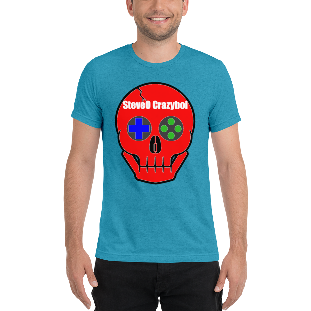 SteveO Crazyboi - Bella + Canvas Unisex Triblend T-Shirt with Tear Away Label