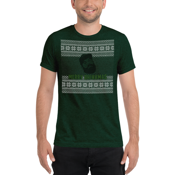 Merry Bhinkmas - Bella + Canvas Unisex Triblend T-Shirt with Tear Away Label