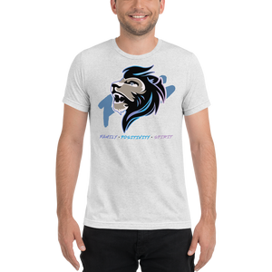 JaredFPS Logo - Pearlescent - Bella + Canvas Unisex Triblend T-Shirt with Tear Away Label