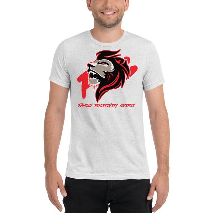 JaredFPS Logo - Red - Bella + Canvas Unisex Triblend T-Shirt with Tear Away Label
