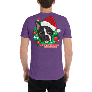 Holiday Pup - Bella + Canvas Unisex Triblend T-Shirt with Tear Away Label