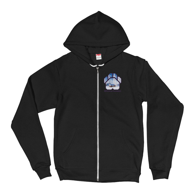 Winter Sleigh Ride - American Apparel Unisex Fleece Zip Hoodie