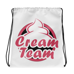 Cream Team Drawstring Backpack