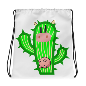 Moo ima Cactus Drawstring Backpack