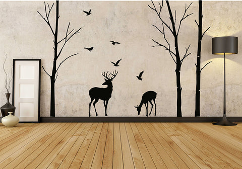 Woodland Deer Wall Decal