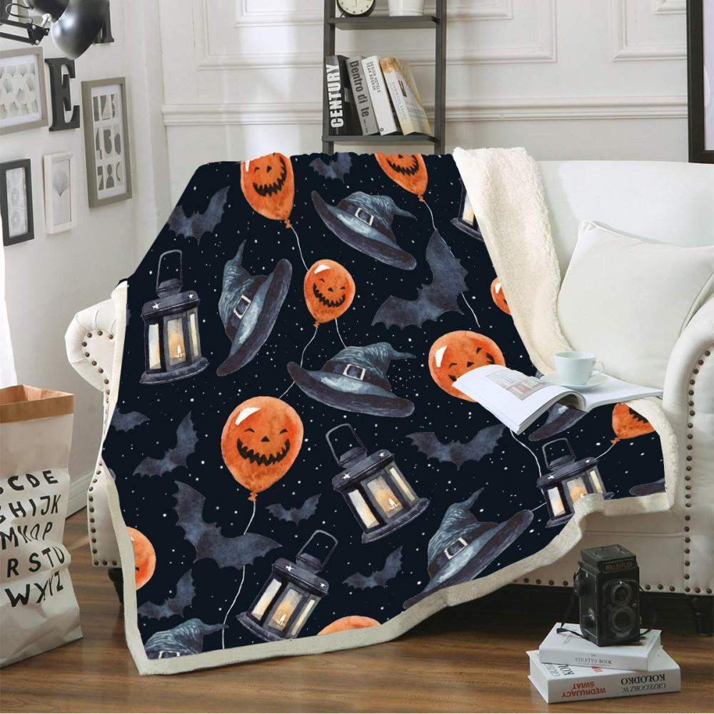 Halloween Cartoon Pumpkin Blanket - Mermaid Freak