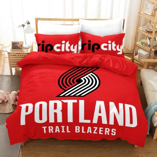 3D Basketball Club Sport Duvet Cover Set, Portland Lovers Bedding Set - Mermaid Freak