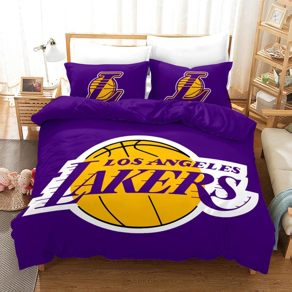 3D Basketball Club Sport Duvet Cover Set, Lakers Lovers Bedding Set - Mermaid Freak