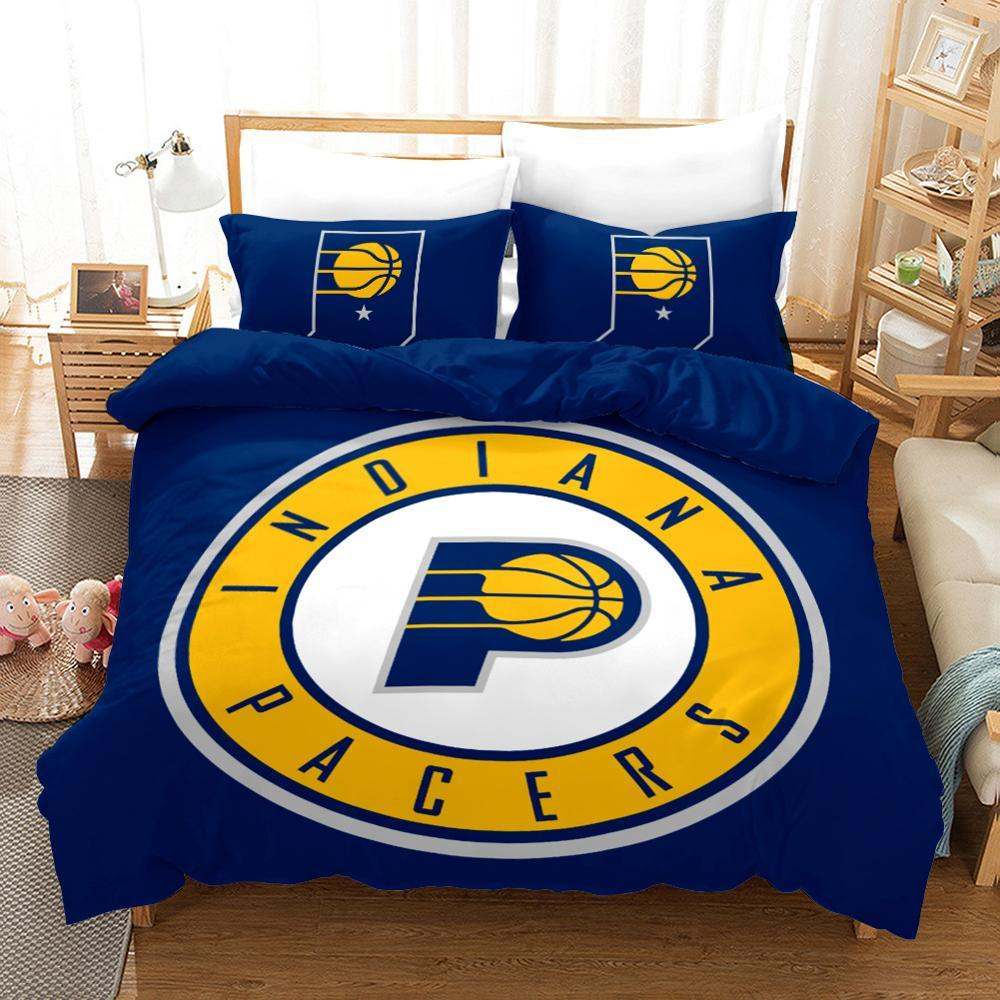 3D Basketball Club Sport Duvet Cover Set, Indiana Pacers Lovers Bedding Set - Mermaid Freak