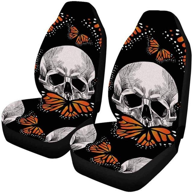 Skull and Butterfly Car Seat Cover, Protector Case - Mermaid Freak