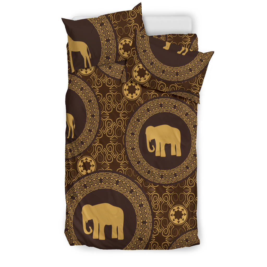 Brown Royal Elephant Bedding Set - Mermaid Freak