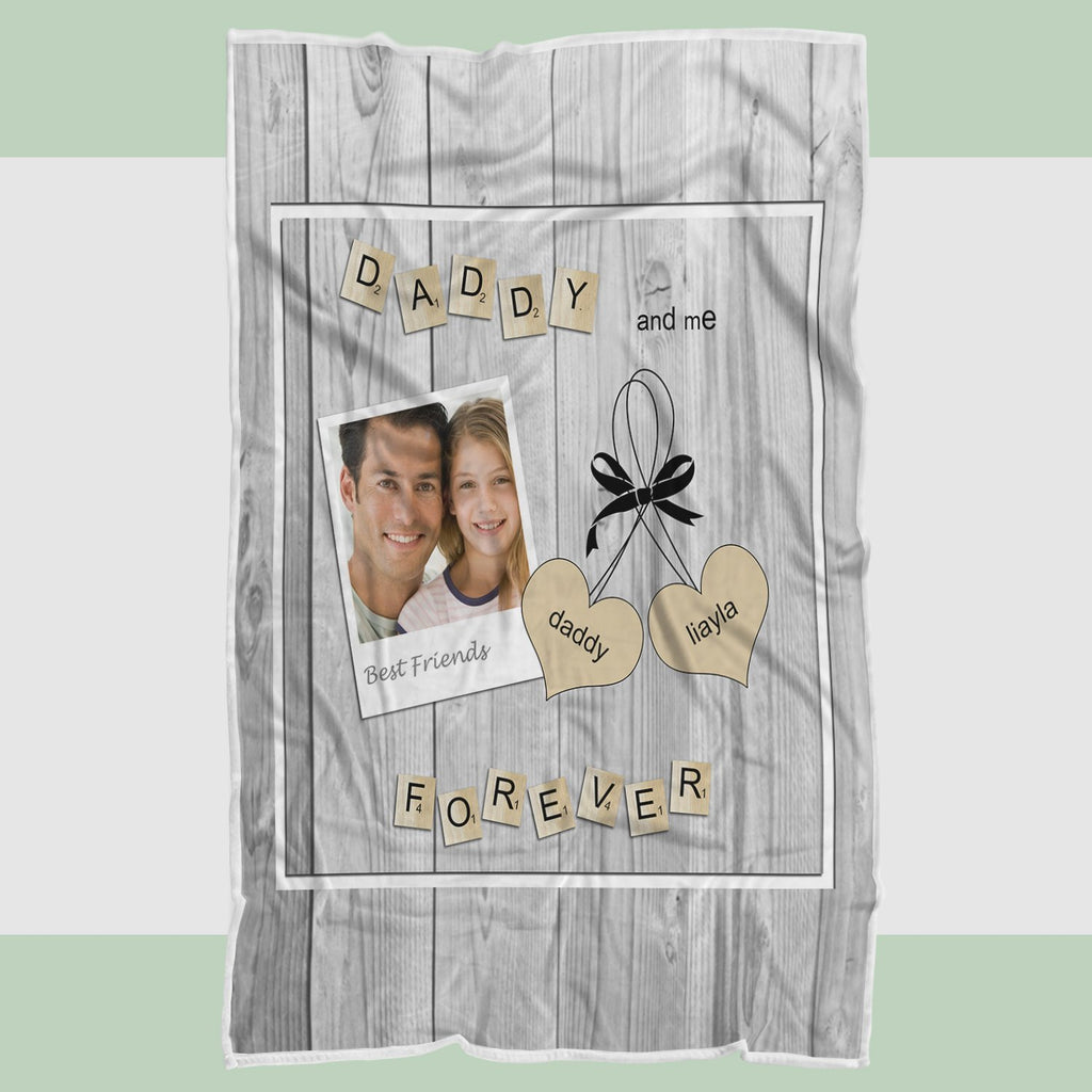 Personalized Photo Blanket, Blanket for Fathers, Fathers Day Gifts - RH2709 - Mermaid Freak