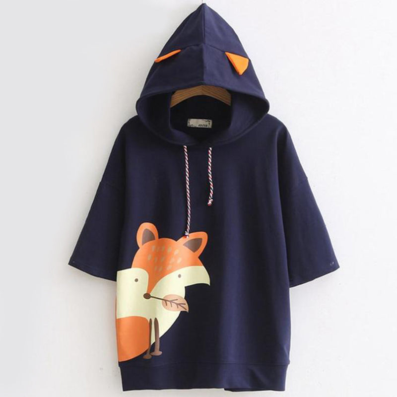 Fox Hoody Shirts - Mermaid Freak