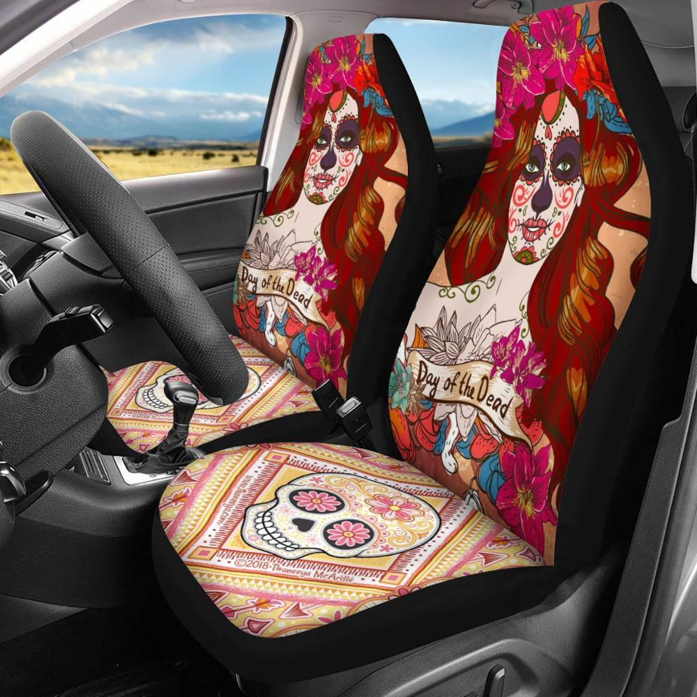 Day Of The Dead Car Seat Cover, Vehicle Interior Covers, Chair Cover - Mermaid Freak